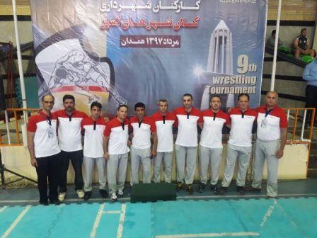 نهمین دوره مسابقات کشتی کارکنان شهرداری کلانشهرهای کشور