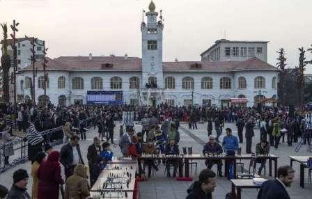 گزارش تصویری برگزاری مسابقه شطرنج سیمولتانه (هم زمان ) به مناسبت روز رشت