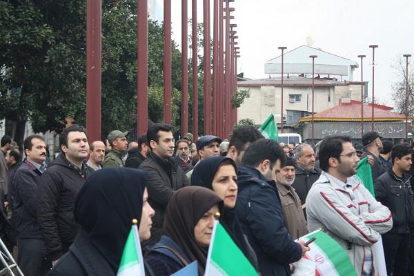 گزارش تصویری راهپیمایی در رشت در  محکومیت اغتشاشات اخیر