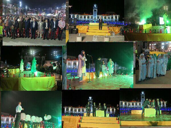 جشن نیمه شعبان در پیاده راه فرهنگی رشت برگزار شد