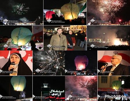 مراسم بزرگداشت پیروزی انقلاب اسلامی در شب 22 بهمن پیاده راه فرهنگی شهرداری رشت